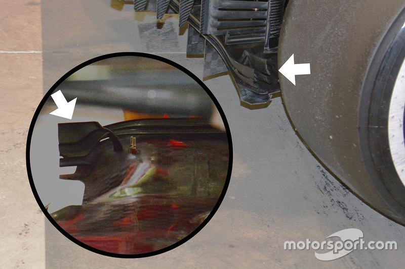 Detailaufnahme des Ferrari SF16-H