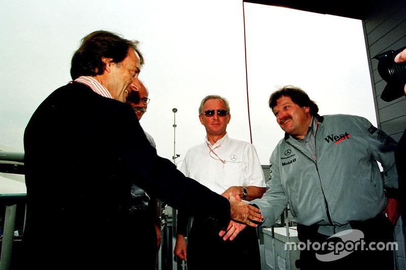 Luca Di Montezemolo, Ferrari congrates Norbert Haugg, Mercedes