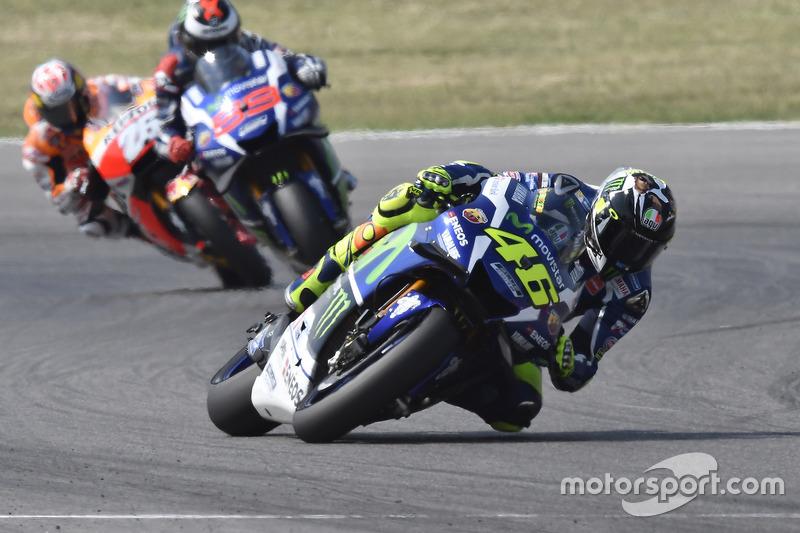 Валентино Россі, Yamaha Factory Racing, Хорхе Лоренсо, Yamaha Factory Racing, Дані Педроса, Repsol H