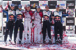 Podio: i vincitori Kris Meeke, Paul Nagle, Citroën DS3 WRC, Citroën World Rally Team, al secondo pos