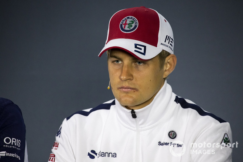 Marcus Ericsson, Sauber in the press conference