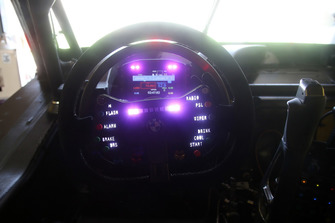 Le volant de la voiture d'Alex Zanardi, BMW M4 DTM