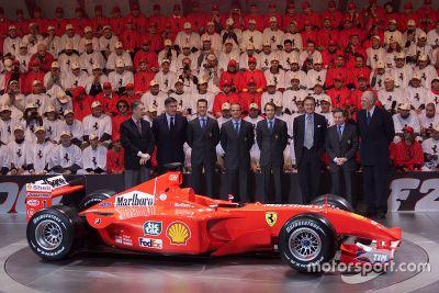 Ferrari F2001 launch, Maranello
