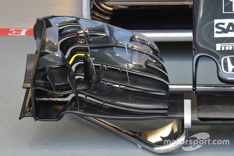 McLaren MP4-31: Frontflügel, Detail