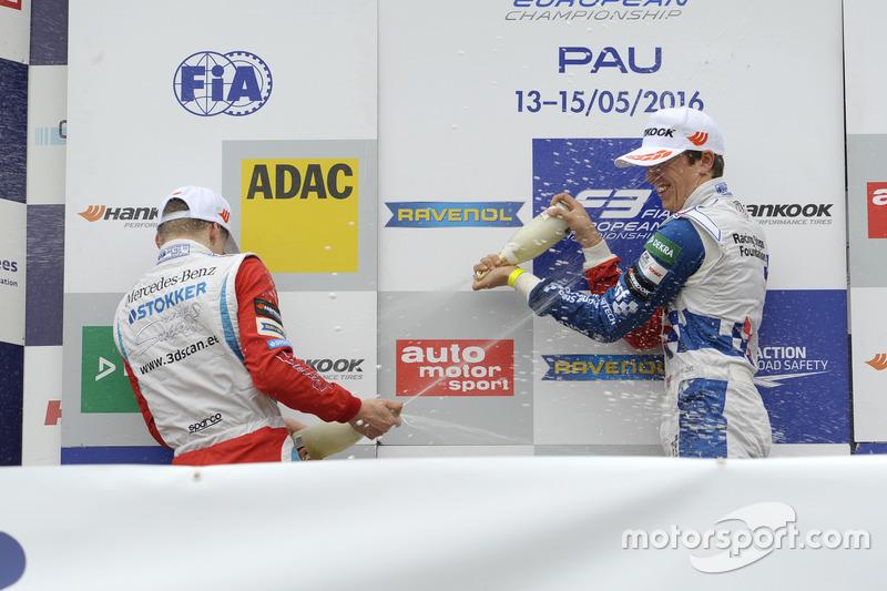 Podium: Ben Barnicoat, HitechGP Dallara F312 – Mercedes-Benz, Nikita Mazepin, HitechGP Dallara F312 – Mercedes-Benz