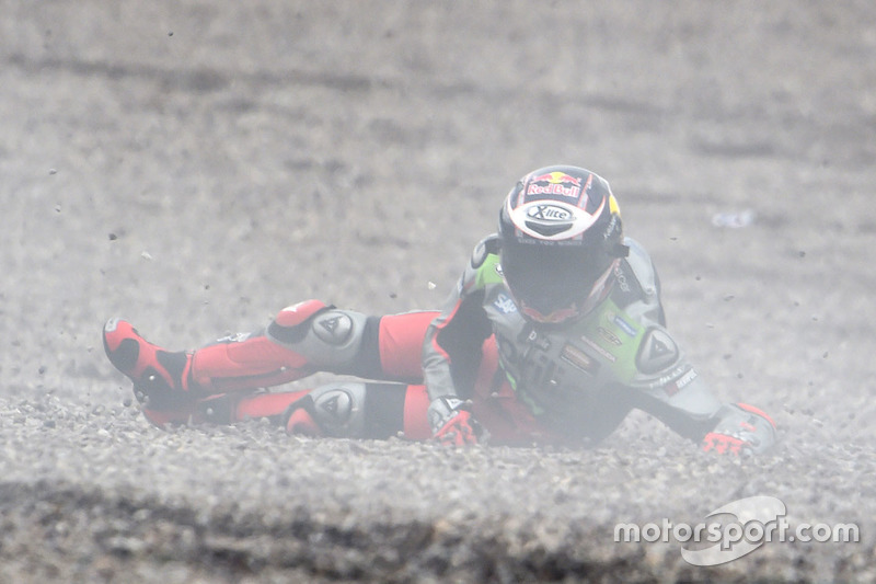 Stefan Bradl, Aprilia Racing Team Gresini crash
