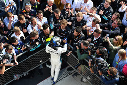 Valtteri Bottas, Mercedes-AMG F1 celebrates in parc ferme