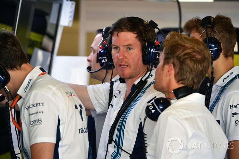 Rob Smedley, Williams Rob Smedley, Williams jefe de rendimiento del vehículo, Nico Rosberg, Embajado