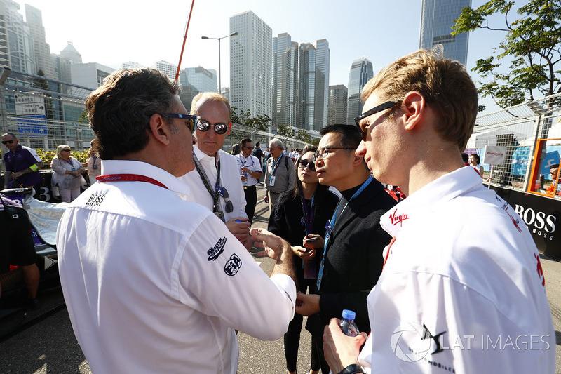 Alejandro Agag, CEO de la Fórmula E, en parrilla
