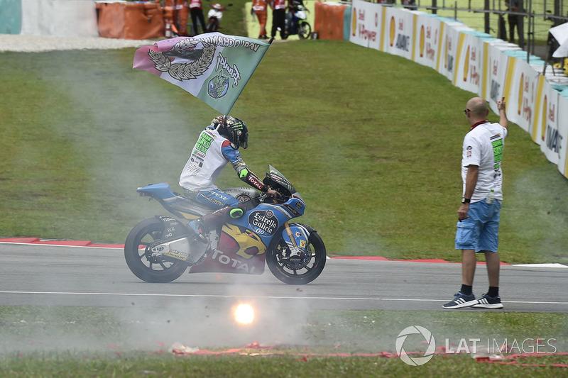Tercer lugar y campeón, Franco Morbidelli, Marc VDS