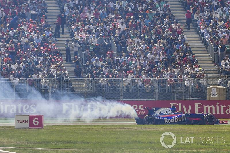 Brendon Hartley, Scuderia Toro Rosso STR12 abandona