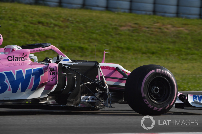 Nicholas Latifi, Force India VJM11 with aero sensor
