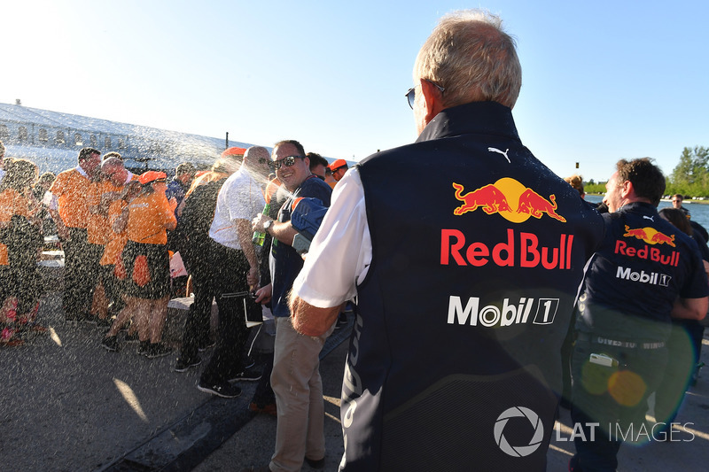 Dr Helmut Marko, Red Bull Motorsport Consultant at the raft race