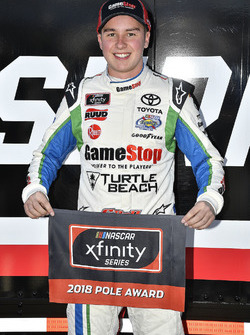 Christopher Bell, Joe Gibbs Racing, Toyota Camry GameStop TurtleBeach wins the pole