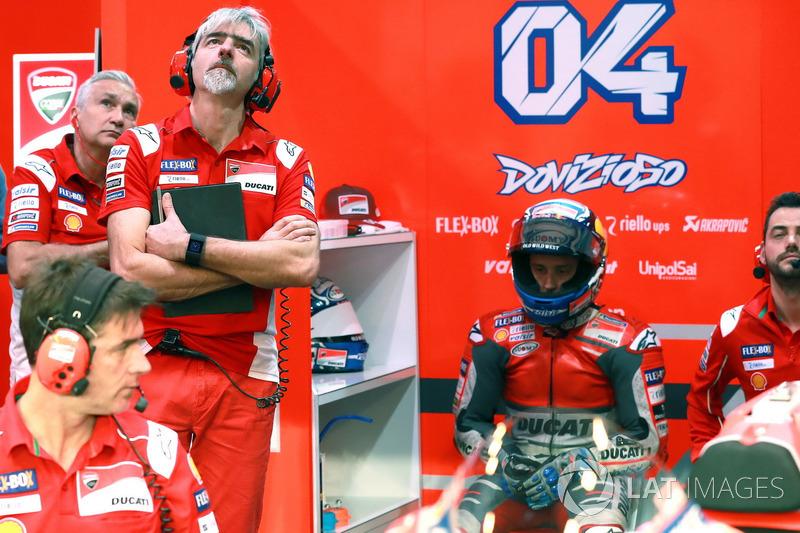 Давіде Тардоцці, керівник команди, Джіджі Далл'Інья, генеральний директор, Андреа Довіціозо, Ducati
