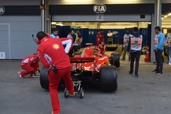Ferrari SF71H at Scrutineering bay