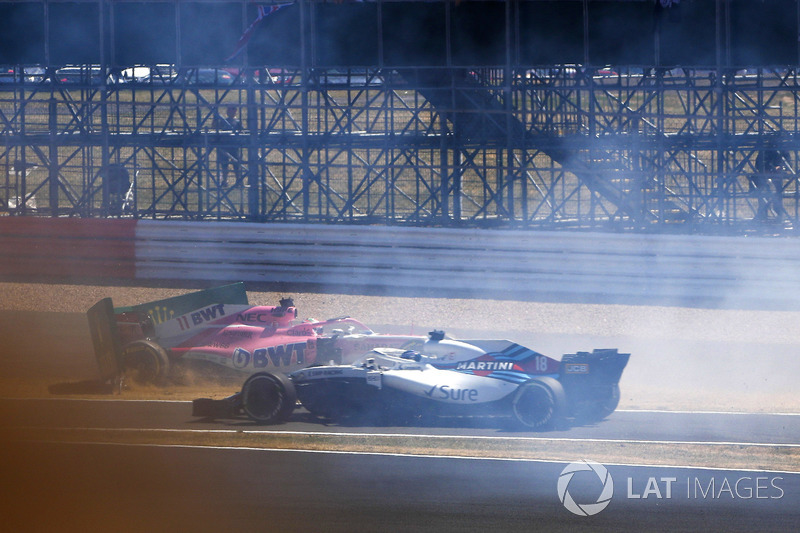 Sergio Perez, Force India VJM11, Lance Stroll, Williams FW41