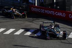 Adam Carroll, Jaguar Racing, leads Jean-Eric Vergne, Techeetah
