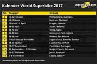 Kalender World Superbike 2017