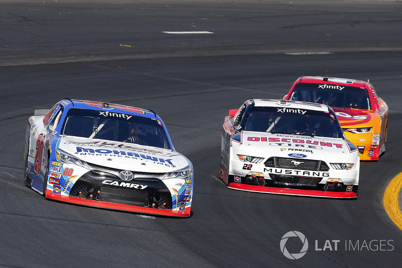 Ryan Preece, Joe Gibbs Racing Toyota, Brad Keselowski, Team Penske Ford