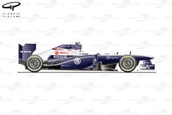 Williams FW35 side view, Italian GP