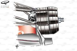McLaren MP4-23 front brake assembly