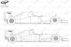 Ferrari F14 T side view