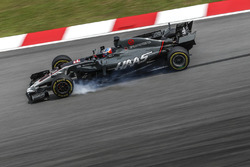 Romain Grosjean, Haas F1 Team VF-17 locks up