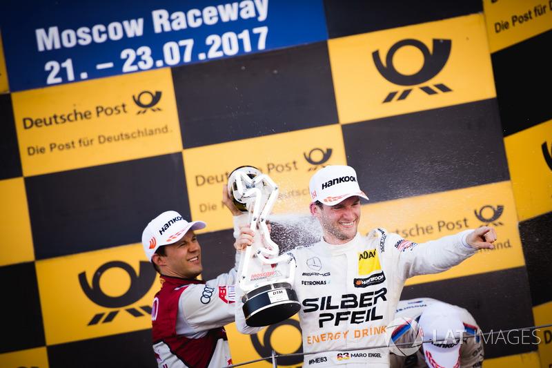 1. Maro Engel, Mercedes-AMG Team HWA, Mercedes-AMG C63 DTM; 2. Mattias Ekström, Audi Sport Team Abt Sportsline, Audi A5 DTM