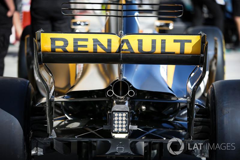 El difusor trasero, posterior ala detalle de Renault Sport F1 Team RS17
