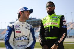 Daniel Suárez, Joe Gibbs Racing Toyota, Darrell Wallace Jr., Biagi-DenBeste Racing Ford