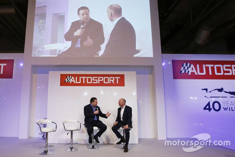 Zak Brown, Presidente de Motorsport Network y Toby Moody
