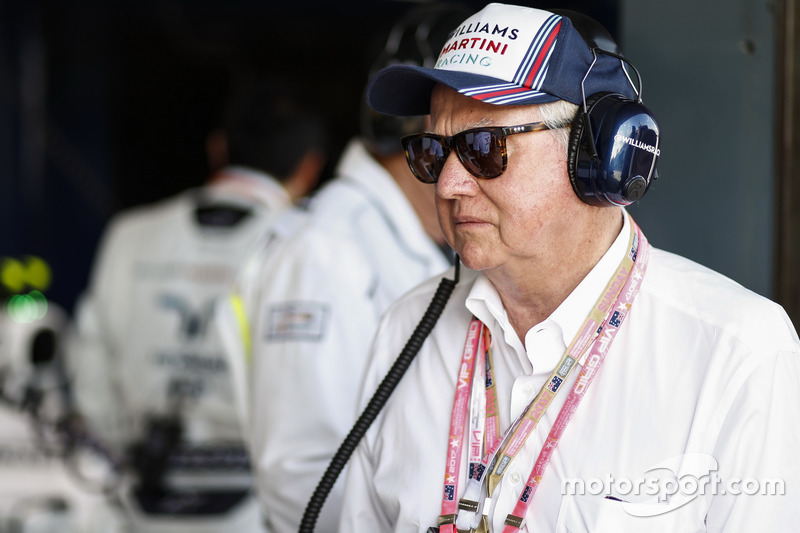 A guest of Williams F1 in the garage