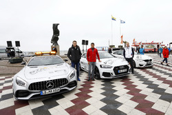 Paul Di Resta, Mercedes-AMG Team HWA, Mercedes-AMG C63 DTM, Loic Duval, Audi Sport Team Phoenix, Audi RS 5 DTM, Maxime Martin, BMW Team RBM, BMW M4 DTM con le safety cars