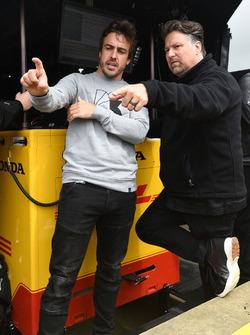 Fernando Alonso y Michael Andretti