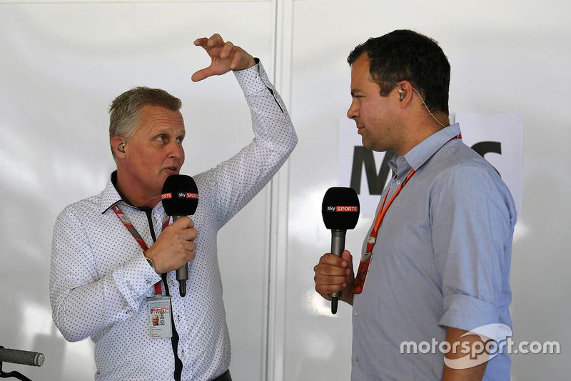 Johnny Herbert, Sky TV and Ted Kravitz, Sky TV