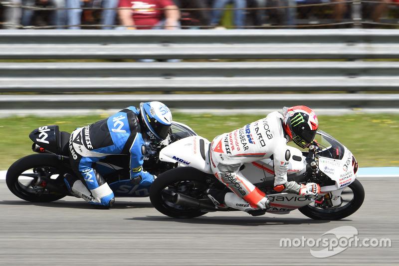 Francesco Bagnaia, Aspar Team Mahindra ve Romano Fenati, Sky Racing Team VR46