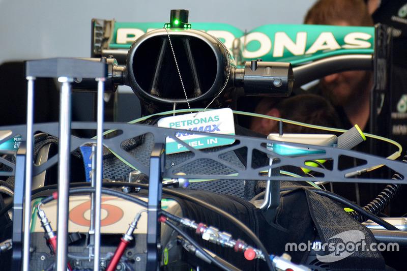 Mercedes AMG F1 en el garaje