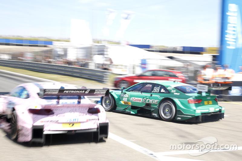 Christian Vietoris, Mercedes-AMG Team Mücke, Mercedes-AMG C63 DTM and Edoardo Mortara, Audi Sport Te