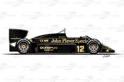 Lotus 97T di Ayrton Senna
