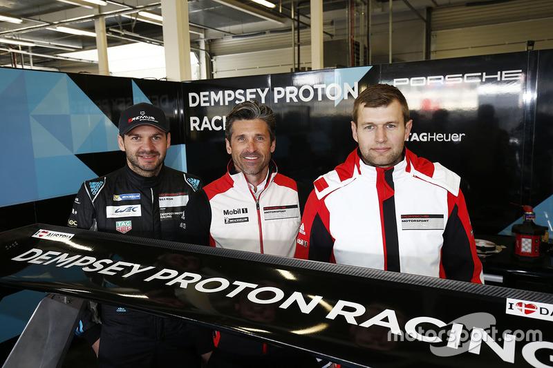 Patrick Dempsey with Richard Lietz and Michael Christensen, Dempsey Proton Competition