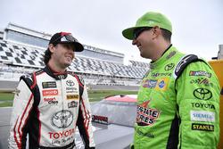 Kyle Busch, Joe Gibbs Racing, Toyota Camry Interstate Batteries and Erik Jones, Joe Gibbs Racing, Toyota Camry buyatoyota.com