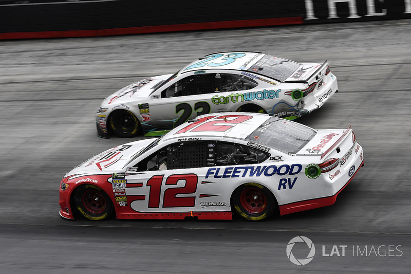 Ryan Blaney, Team Penske, Ford Fusion REV and Gray Gaulding, BK Racing, Toyota Camry Earthwater