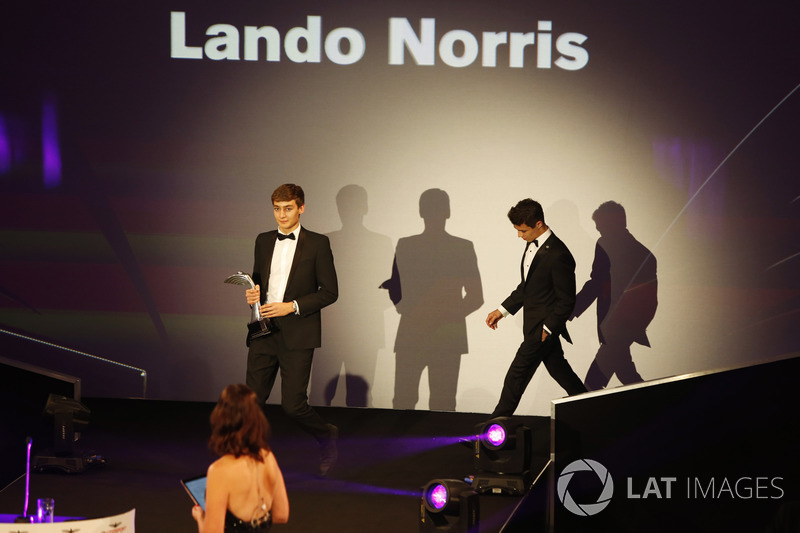 George Russell and Lando Norris