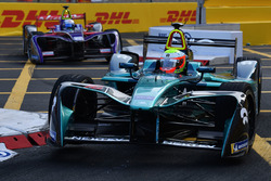 Oliver Turvey, NIO Formula E Team, leads Sam Bird, DS Virgin Racing