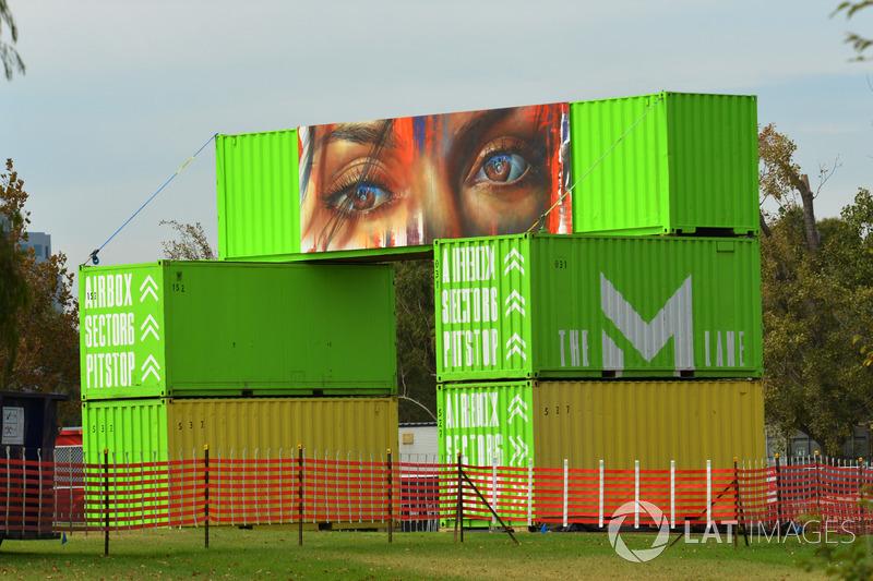 Гран Прі Австралії: малюнок на контейнері