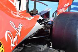 Ferrari SF71H, dettaglio della sospensione posteriore
