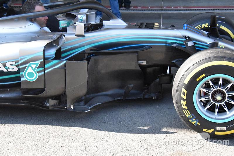 Mercedes-AMG F1 W09 sidepods detail
