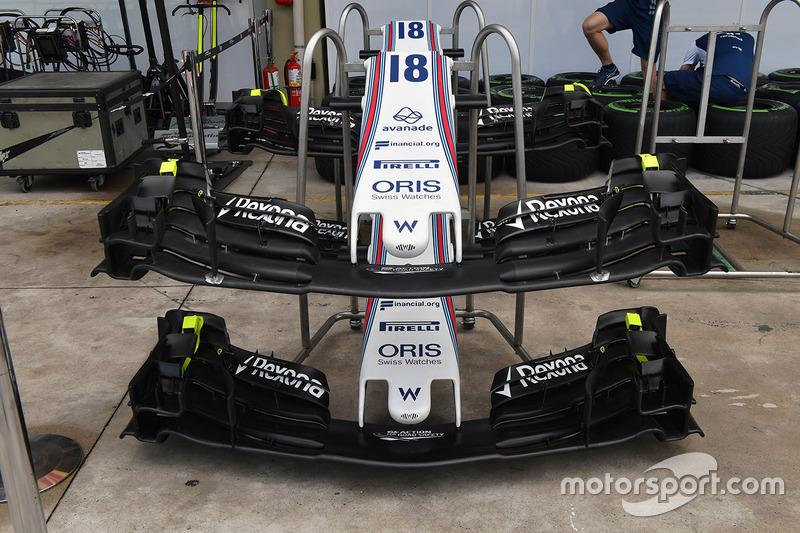 Détails de l'aileron avant de la Williams FW40