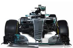 Сравнение Mercedes W07 с W08